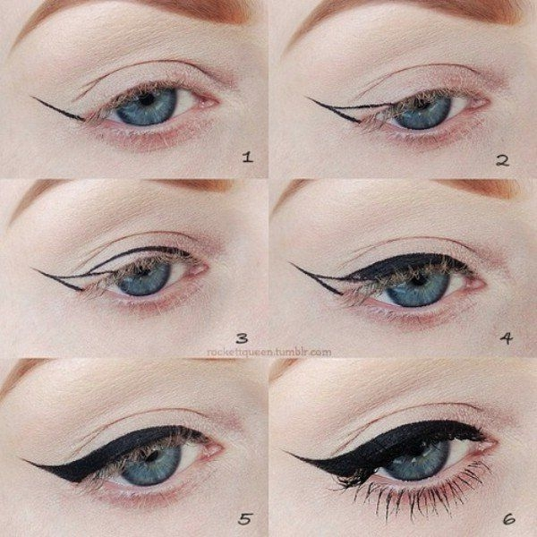 How to Create a Flick with a Liquid Eyeliner Pen