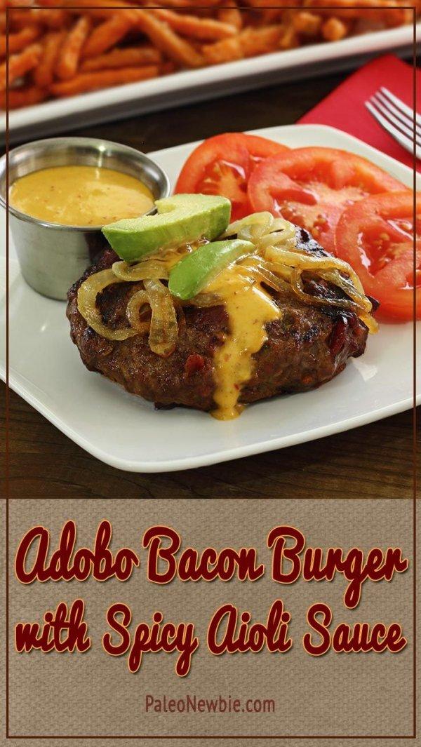 ... gourmet Paleo hamburguesa con tocino y Chipotle-adobo dentro - 31
