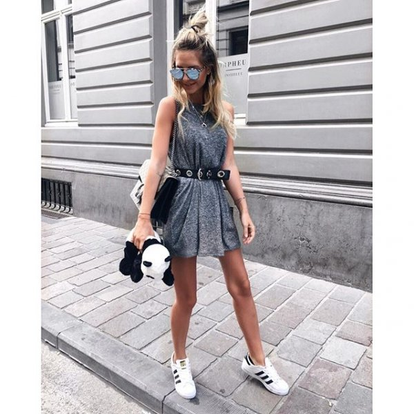 clothing, dress, footwear, sleeve, denim,