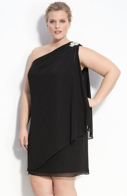 2. One Shoulder Dress for plus Size Women... - 6 Chic Dresses for…