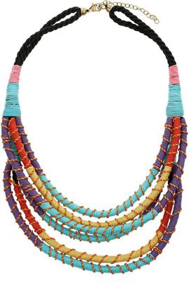 Topshop Regatta Multi Wrap Necklace