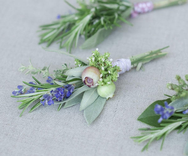 Herbal Wedding Boutonnieres