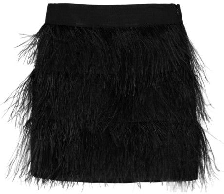 Milly Ostrich Feather Skirt