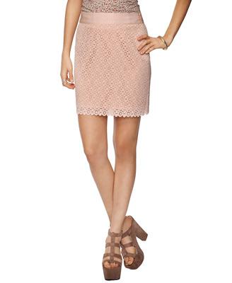 Textured Eyelet Skirt