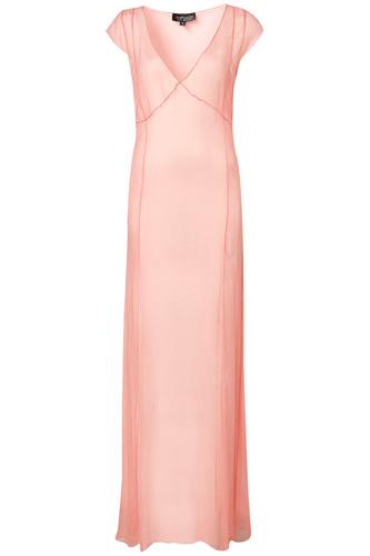 Topshop Sheer Overlock Maxi Dress