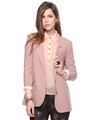 Collection Blush Colored Blazer Pictures - Reikian