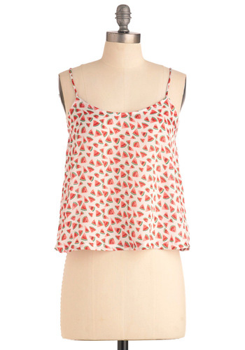 Modcloth Watermelon Print Top