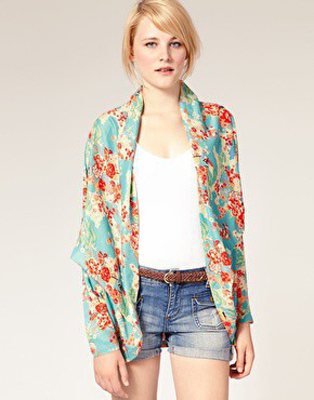 Kimono Style Jackets - 7 Ways to do Pyjama Trend in Spring 2012…