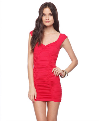 Forever21 Ruched Knit Dress - 9 Stylish Bodycon Dresses to Show…