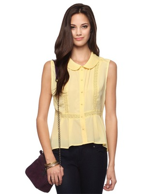 Peplum Button up Blouse