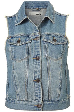 Moto Sleeveless Denim Jacket - 9 Funky Denim Vests for Now ... → 👗…