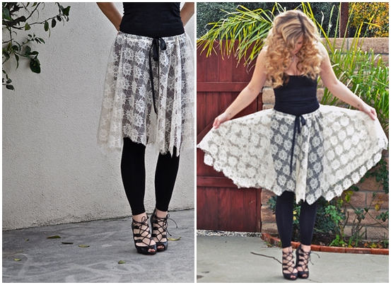 easy lace skirt 10 lovely lace fashion diy projects �