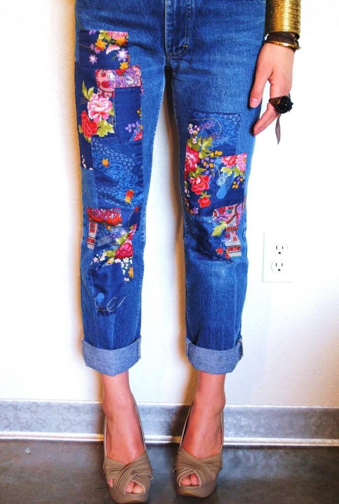 Заплатка на джинсы своими руками фото