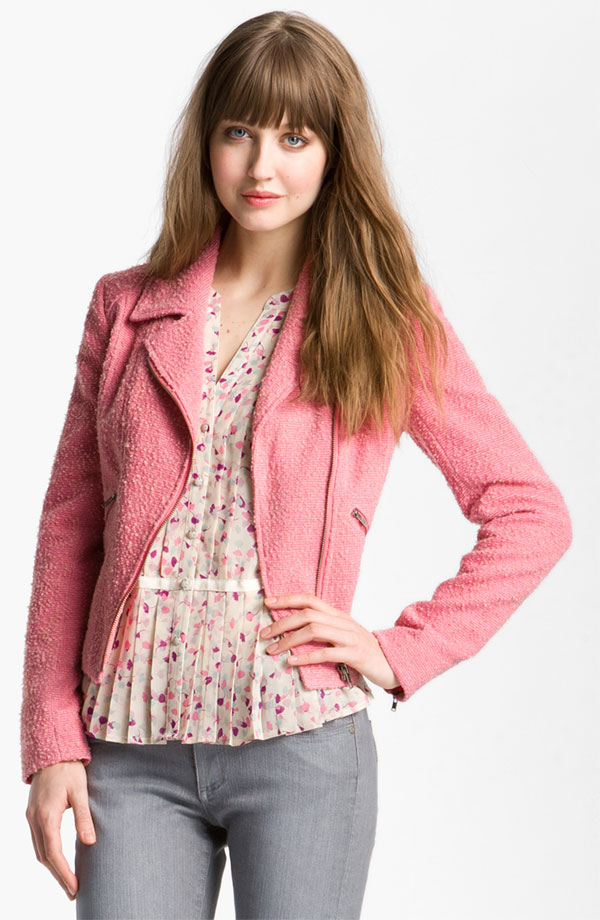 2. Hinge Boucle Biker Jacket - 7 Stylish and Modern Boucle Jackets…