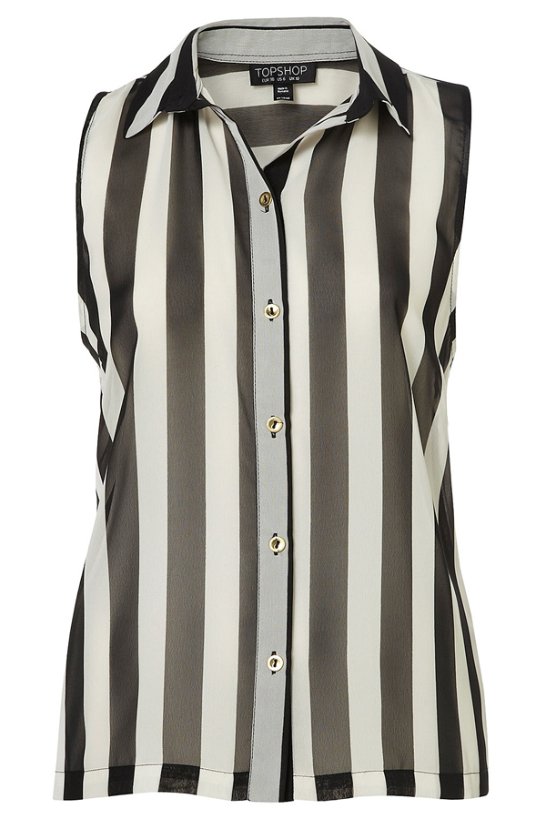 Sleeveless Stripe Shirt 7 Very Fashionable Vertical