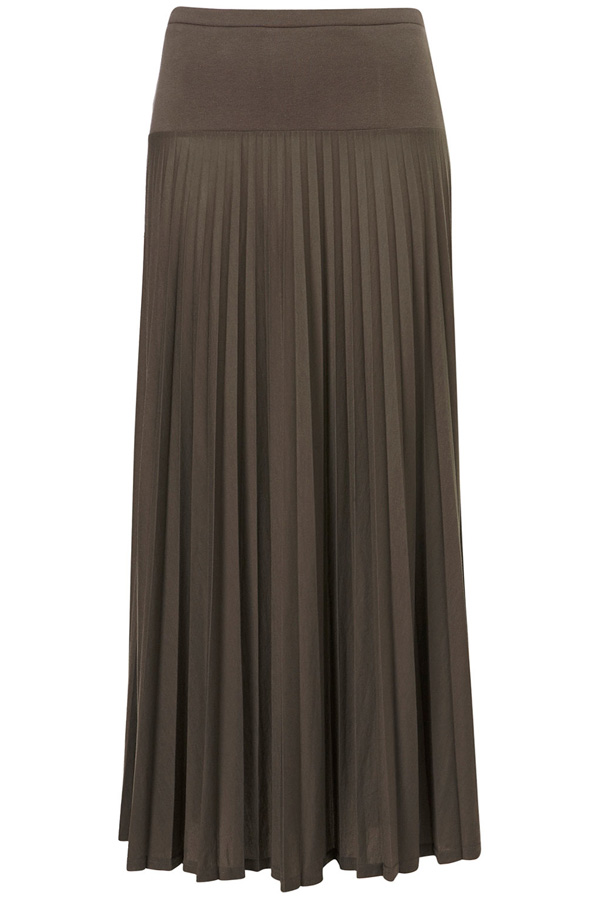 Khaki Pleated Maxi Skirt - 7 Chic and Stylish Maxi Skirts ... …