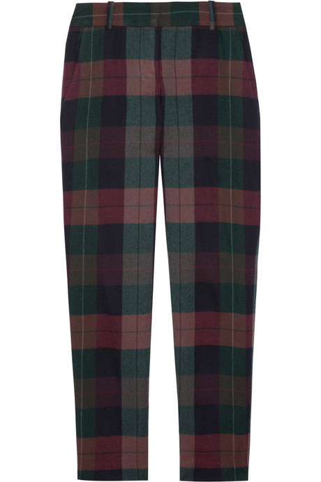Theory Plaid Pants