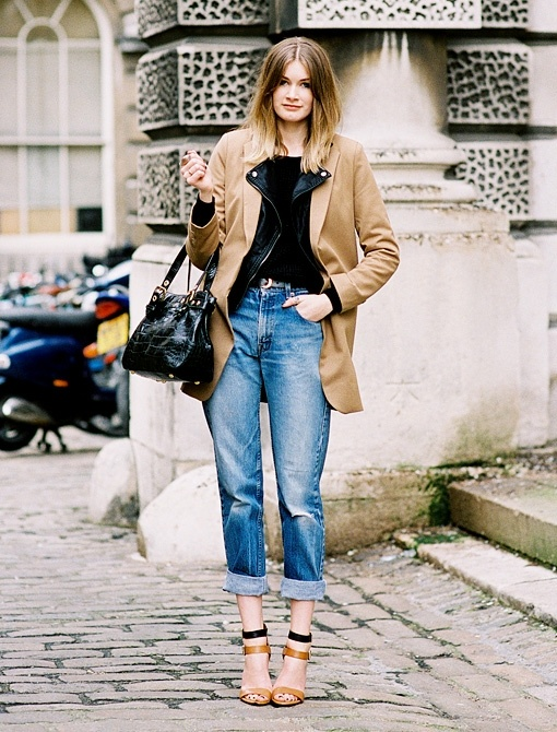 How to wear turned up jeans