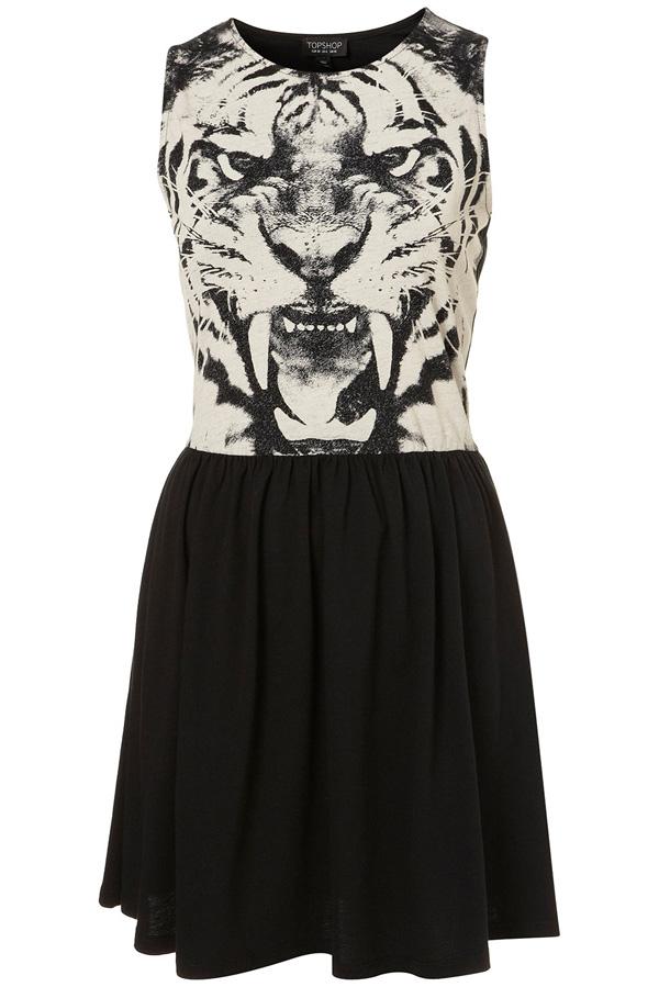 Tiger Face Skater Dress 9 Not So Basic Black Dresses For