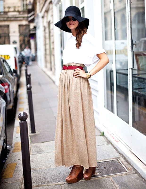 accessorize 7 ways to wear your maxi skirt in fall