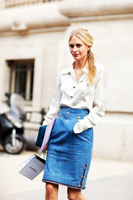 Denim Casual - 7 Ways to Wear a Pencil Skirt ... Fashion