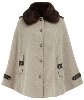 Fur Collar Cape Coat - 8 Chic Cape Coats to Keep You Warm ... …