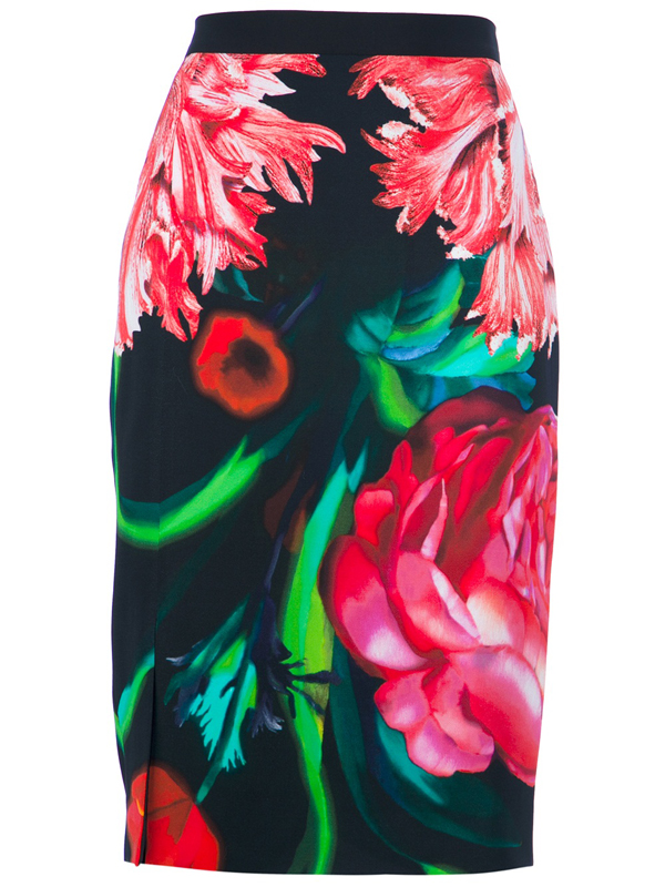 Floral Pattern Pencil Skirt - 8 Prettiest Patterned Pencil Skirts…