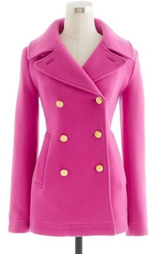 Pink Pea Coats - Black Coat