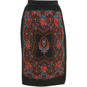 6. Baroque Pattern Pencil Skirt - 8 Prettiest Patterned Pencil Skirts…