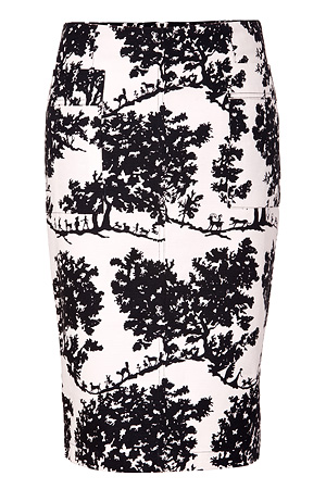 Toile Pattern Pencil Skirt - 8 Prettiest Patterned Pencil Skirts…