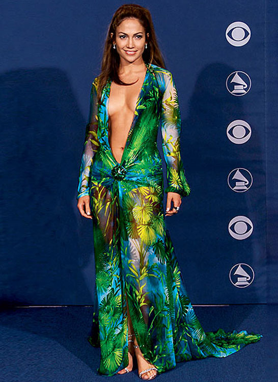J.Lo's Versace Dress at the Grammys - 10 Incredible Iconic ...