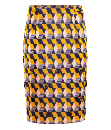 Geometric Pattern Pencil Skirt - 8 Prettiest Patterned Pencil…