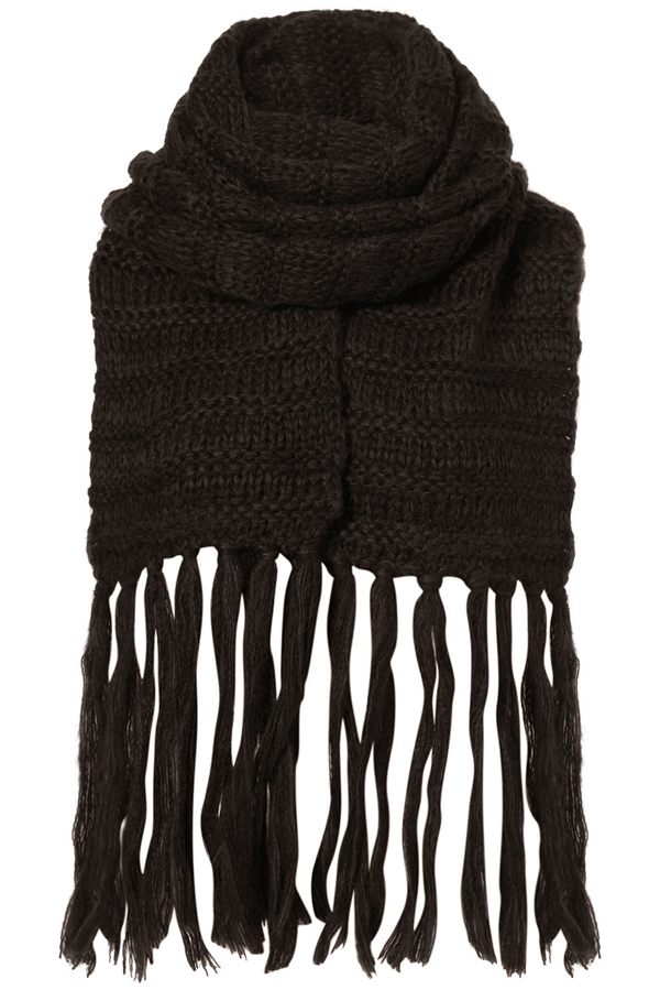 Plain Ribbed Scarf - 9 Cosy Yet Fashionable Scarves for Fall ...