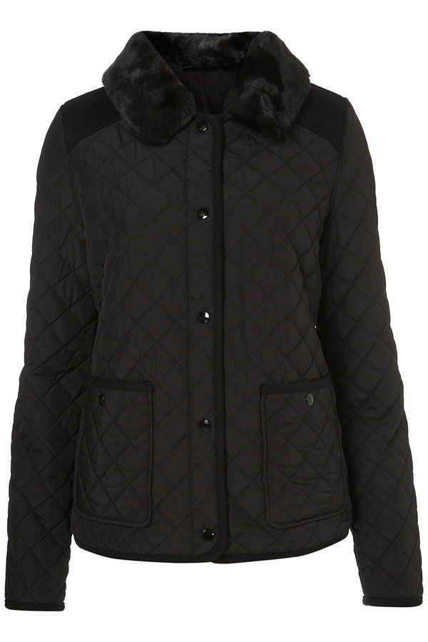 Quilted Fur Collar Jacket