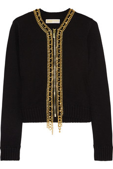 Chain Trimmed Cardigan