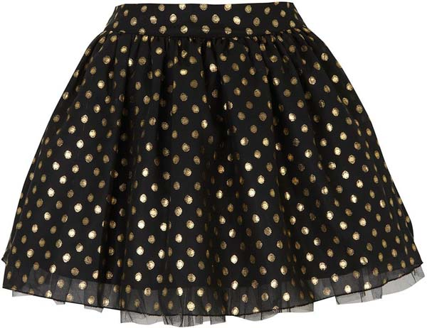Polka Dot Flared Party Skirt