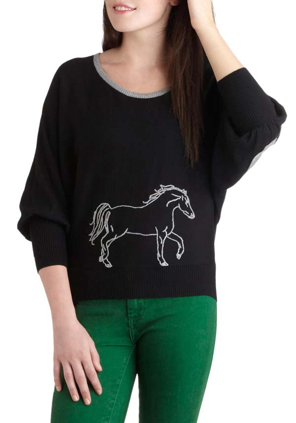 Trot of You Today Sweater