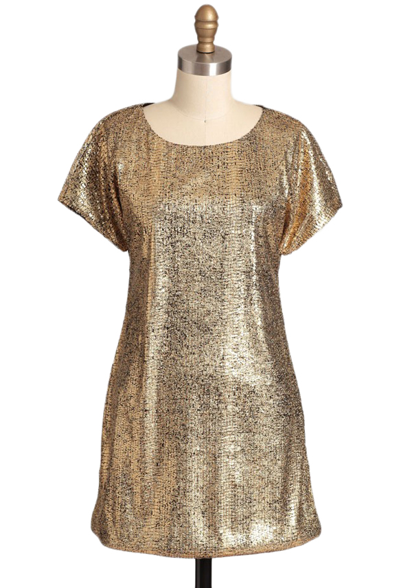 Falling Star Metallic Dress