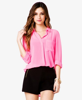 High-Low Georgette Shirt