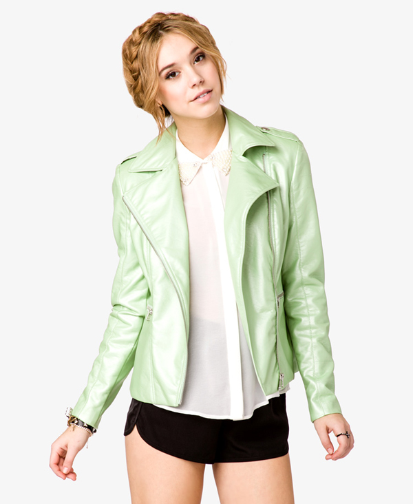 Pearlized Biker Jacket