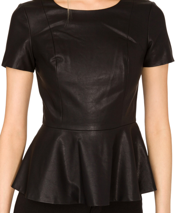 Peplum tops are a popular option when it comes to working a ladylike ...