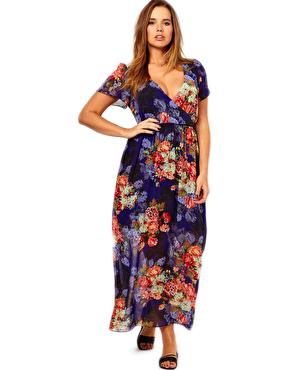 ASOS CURVE Maxi Dress in Vintage Floral Print - 8 Feminine Floral…
