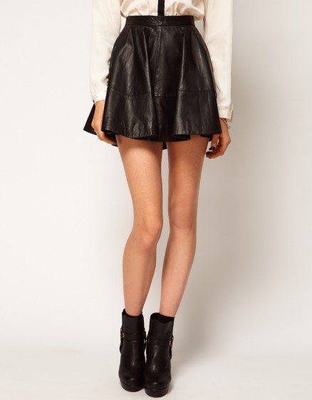 skater skirt in leather 9 playful pleated skirts