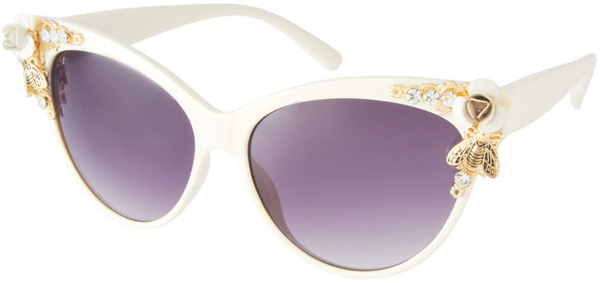 Bug and Flower Detail Sunglasses