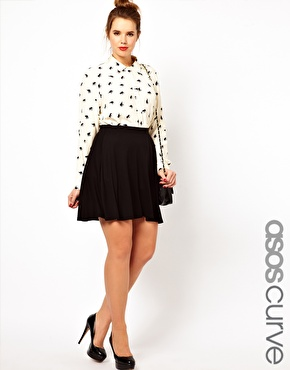 Asos curve exclusive skater skirt in jersey 8 springy plus size