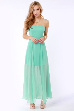 Hit List Strapless Mint Green Maxi Dress - 9 Must Have Spring Maxi…