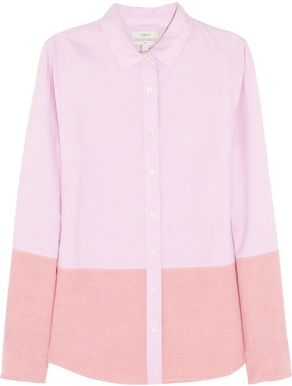 Colour Blocked Oxford Shirt