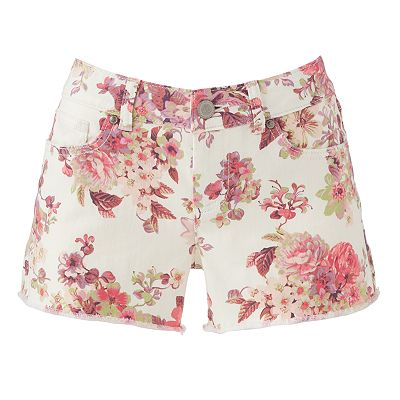 LC Lauren Conrad Floral Denim Shorts - 8 Springy Patterned Shorts…