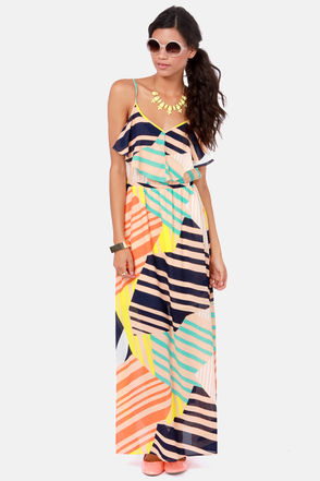 7. Tall It a Day Print Maxi Dress - 9 Must Have Spring Maxi Dresses…