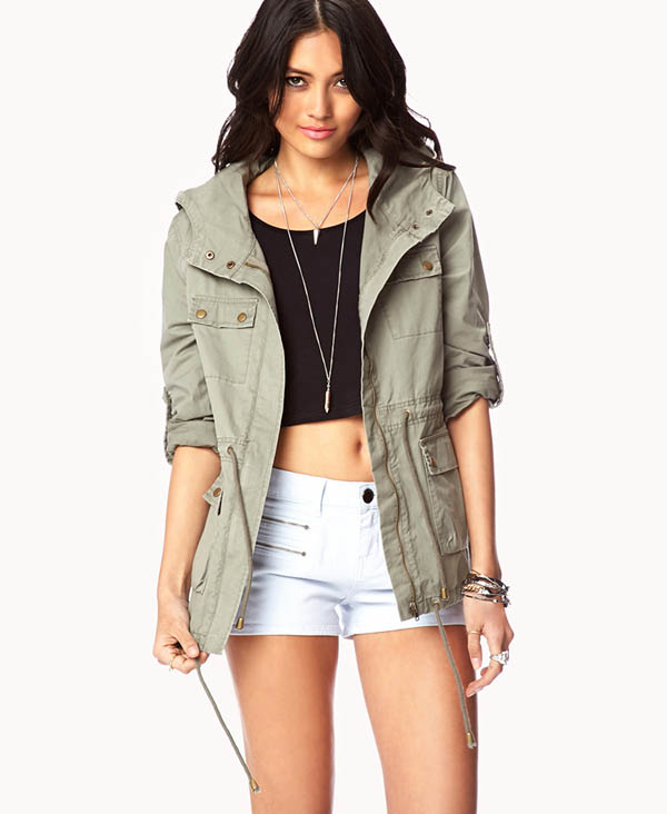 8. Hooded Utility Jacket - 9 Lightweight Spring Cover Ups → 👗…